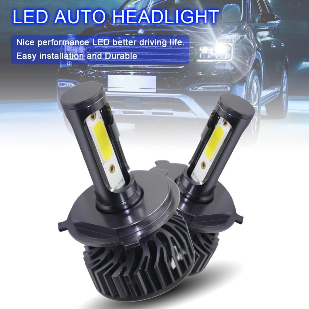 2pcs H4 HB2 9003 EV8 60W 8000LM 6500K DOB LED Car Auto Headlight Bulbs Kit Automobile Fog Lamp Hi Lo Light Bulbs for Cars in Car Headlight Bulbs LED from Automobiles Motorcycles