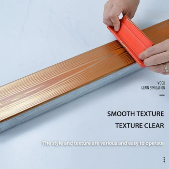 Rubber Paint Roller Imitation Wood Graining Pattern Wall Texture Art DIY Rubber Wood Grain Painting Tool Home Decoration