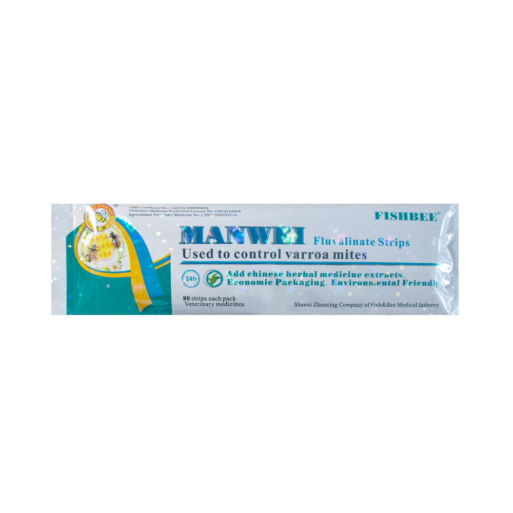 MANWEI  Strips Imported Fluvalinate Strip Varroa Killer With Organic Extract Herbs For Beekeeping Varroa Control New Formula