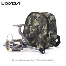 Lixada Small Reel Bag Medium Gear Bag Multi-function Fishing Spinning