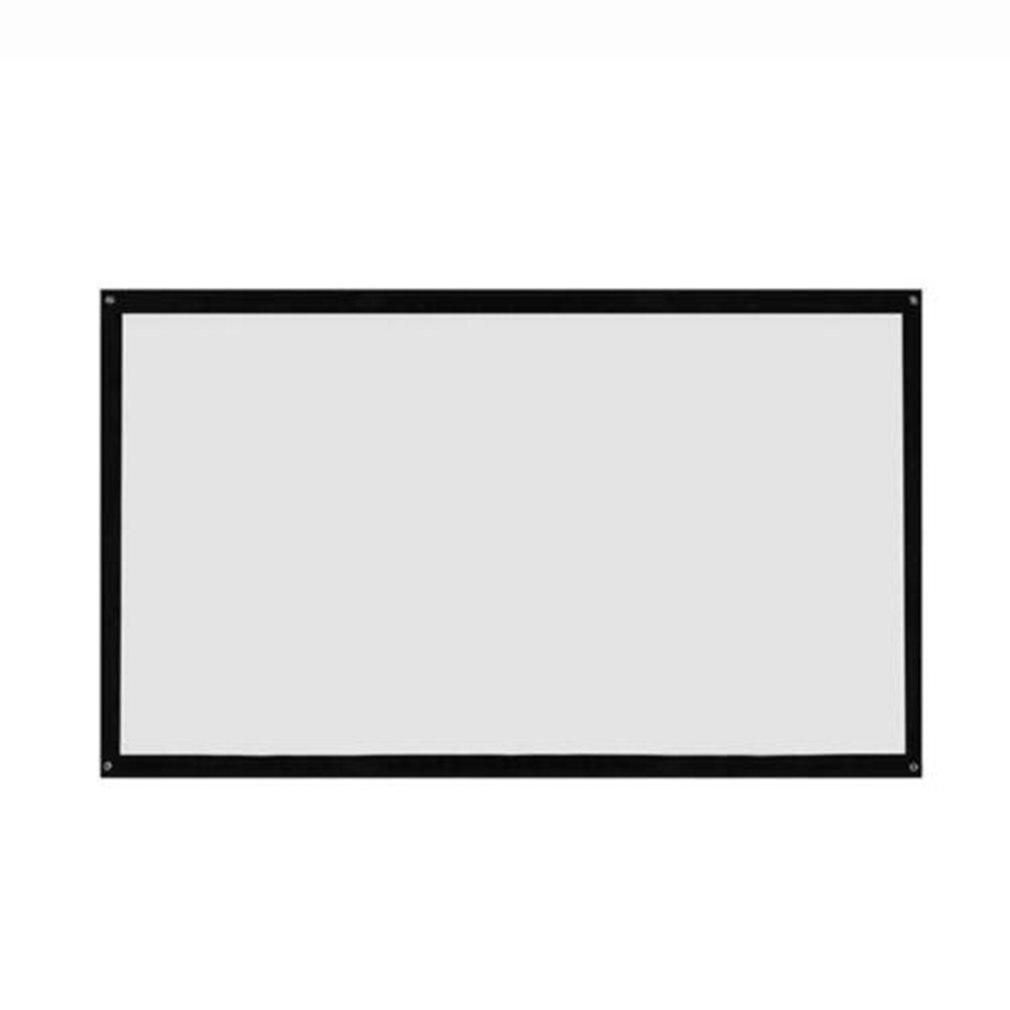 16:9 120 дюймов портативный складной экран проектора Настенный домашний кинотеатр 3D HD Проекционный экран холст