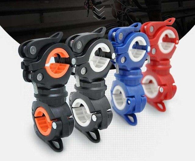 Clipe de braçadeira para ciclismo, clipe de lanterna para bicicleta de rotação 360 graus de montagem cabeça dianteira suporte clipe acessórios para bicicleta 6