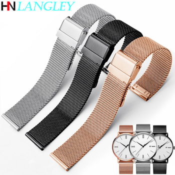 Milanese Loop Watch Strap 17/18/19/20 mm Watch Band for DW for Daniel Wellington Stainless Steel Band 12/13/14/16/22 mm Width leather watchband strap 12 14 16 18 19 20 22 24 mm stainless steel buckle men women replace band watch accessories