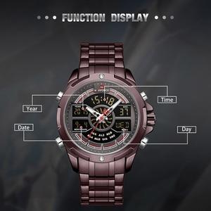 Image 3 - NAVIFORCE reloj deportivo de lujo para hombre, cronógrafo militar, resistente al agua, con retroiluminación, de cuarzo Digital, Masculino