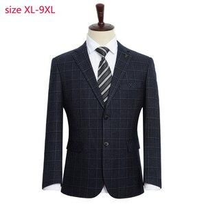 Image 1 - הגעה חדשה אופנה גברים אופנה חליפת מעיל סופר גדול גברים Loose פורמליות גבוהה באיכות בתוספת גודל XL 2XL3XL4XL 5XL 6XL 7XL 8XL 9XL
