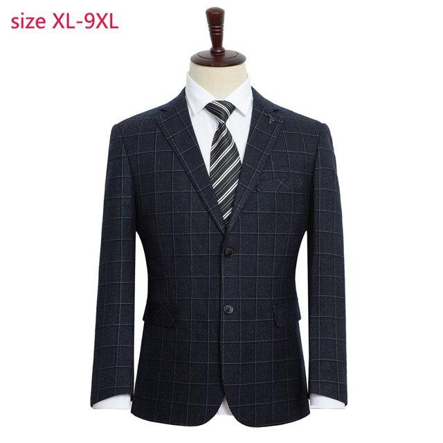 הגעה חדשה אופנה גברים אופנה חליפת מעיל סופר גדול גברים Loose פורמליות גבוהה באיכות בתוספת גודל XL 2XL3XL4XL 5XL 6XL 7XL 8XL 9XL