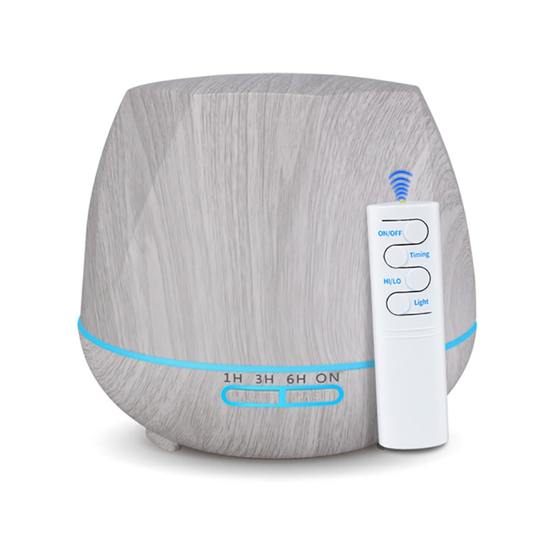 550ml Air Humidifier White Wood With Remote Control Aroma Essential Oil Diffuser Aromatherapy Mist Maker Fogger For Home