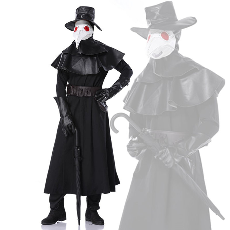 Medieval Plague Doctor Cosplay Costume Party Hero Dungeon Stage Show Clothing Christmas Costume Set