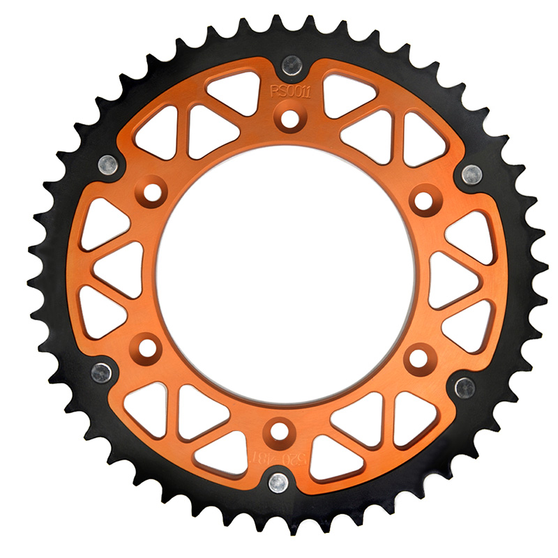 Primary Drive Rear Aluminum Sprocket 50 Tooth Black for KTM 530 EXC-R 2008-2011
