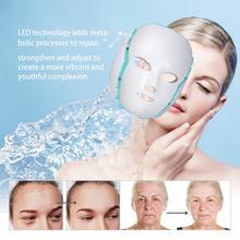 Электрический прибор для красоты светодиодный фотонная маска для лица и маска для шеи светильник для омоложения кожи терапия Уход за кожей лица против акне и морщин