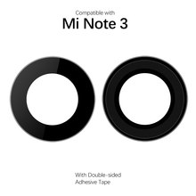 Back Camera Lens For Xiaomi Mi Note 3 Rear Camera Lenses for Xiaomi Mi Note Replacement Parts with Adhesive Tape(China)