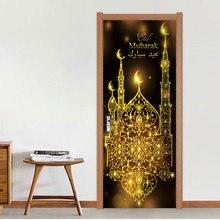 Дропшиппинг счастливый ИД Мубарак мусульманские наклейки на дверь съемные водонепроницаемые наклейки на стену спальня гостиная DIY обои