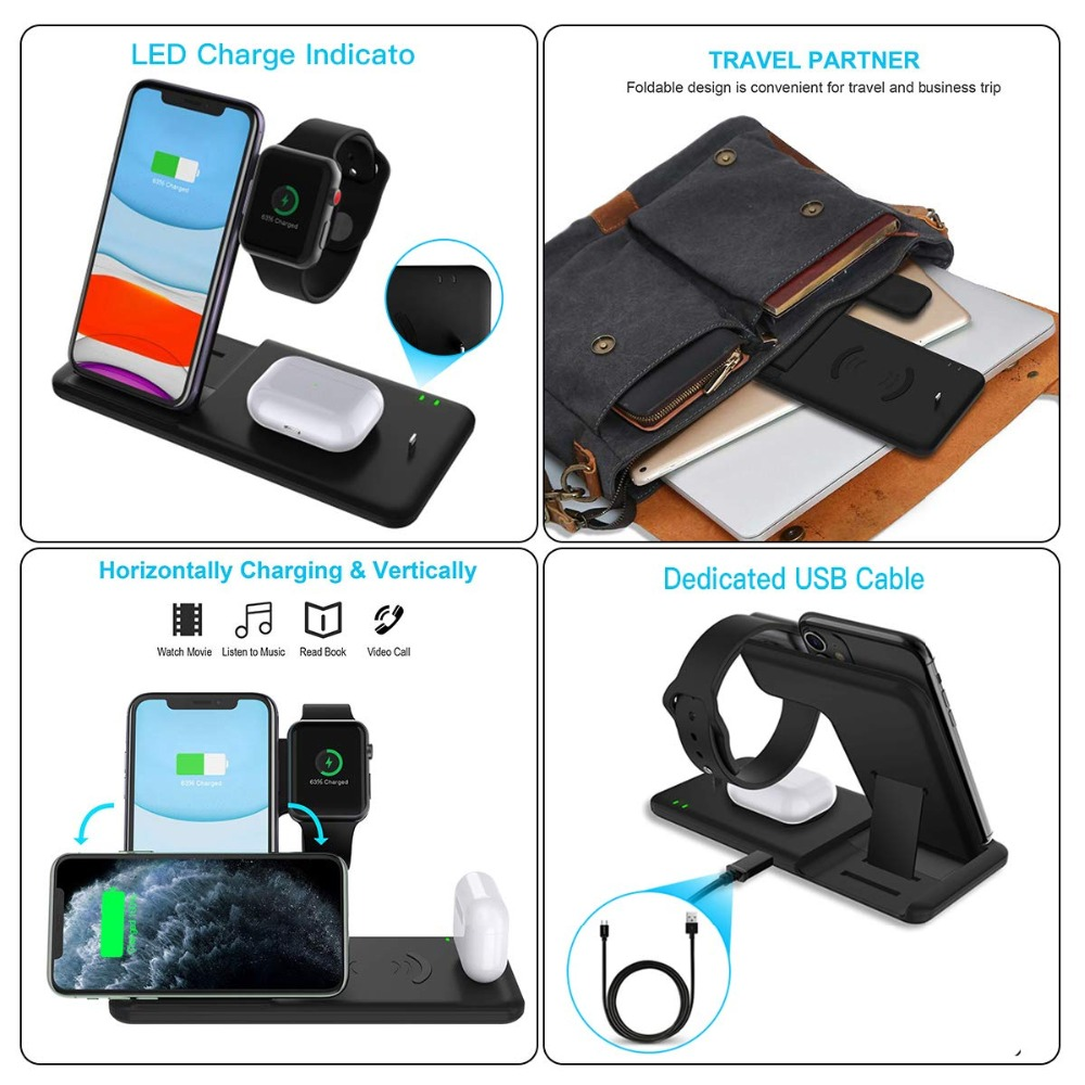 Hb673e3ca104e4c81846da171f5794b53r Fast Wireless Charger Stand For iPhone  & Apple Watch Dock Station