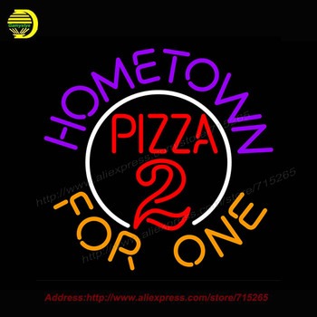 Hometown pizza Neon Light Signs For Business bar Glass tube neon lamp grow light night light For Bedroom led lamp Custom light