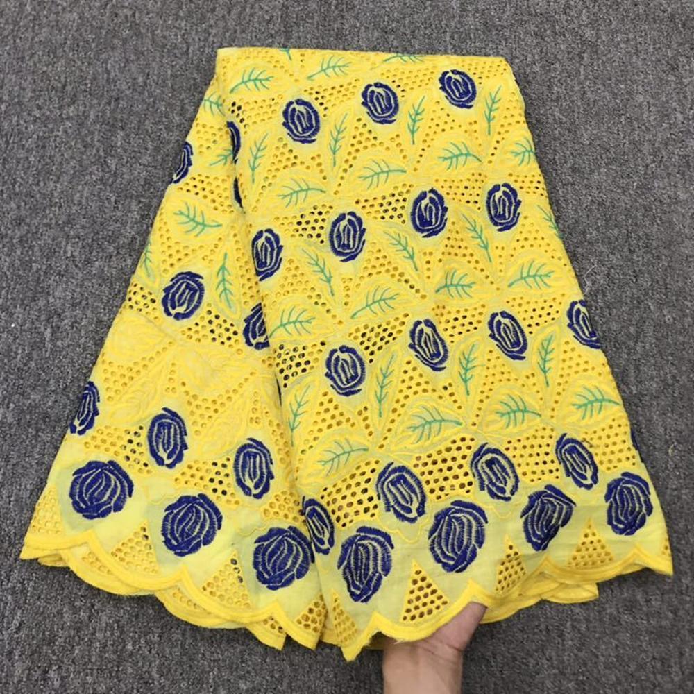100% algodón tela de encaje africano 2019 tela de alta calidad nigeriana francesa tela de encaje bordado para mujeres vestido 5 yardas/ mucho A1934-in encaje from Hogar y Mascotas    1