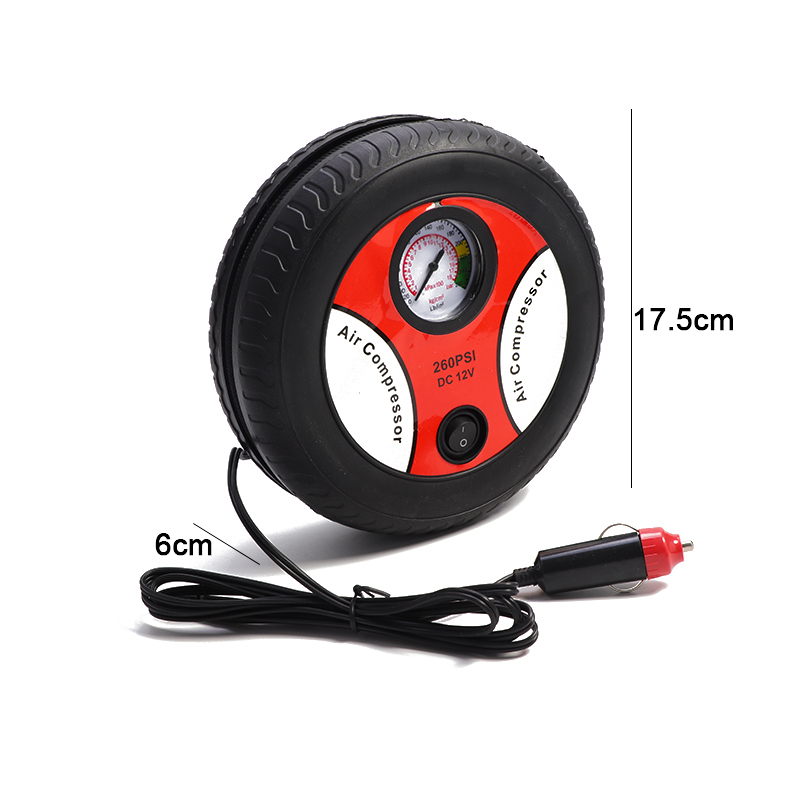 Tire Inflator Car Air Pump Compressor Electric Portable Auto 12V Volt 200 PSI