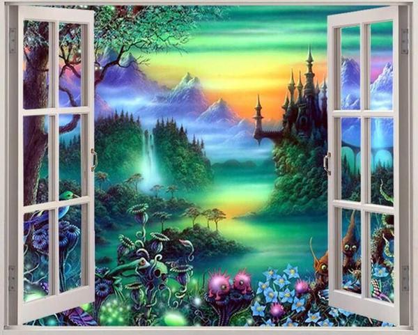 5D DIY Diamond Painting Full Square Drill Scenery Sunset Window Outside 3d  Mosaic Diamant Embroidery Wedding Room Decoration|Diamond Painting Cross  Stitch| - AliExpress
