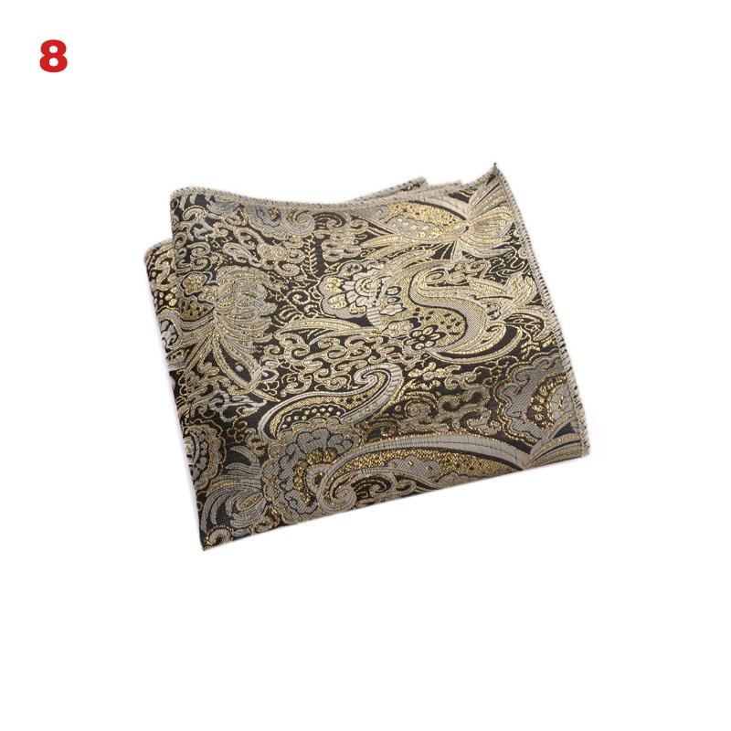 2019 Newly Vintage Men British Design Floral Print Pocket Square Handkerchief Printed Soft Fabric Silky Handkerchief Male IR-ing