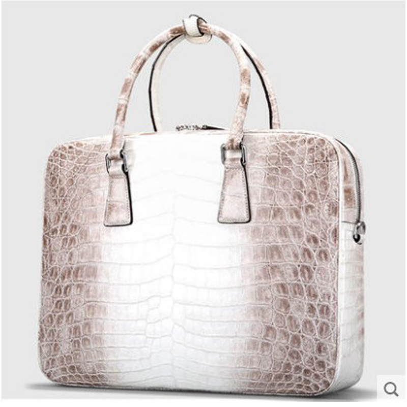 Cestbeau Nile crocodile Belly making skin portable briefcase Himalayan man bag