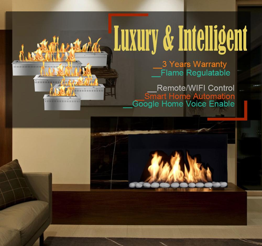 Inno Living 30 Inch Mobile Control Fireplace Bio Ethanol Smart Fire