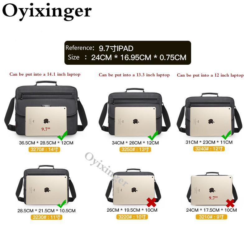 OYIXINGER Briefcase Men's Designer Handbags High Quality Business Men Briefcases Handbag Mens Briefcases Shoulder Crossbody Bags