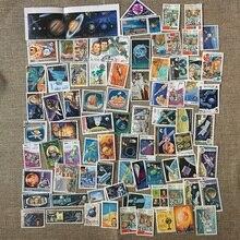 50 шт./компл. астронавт космический спутник отличается от многих стран не повторяются с неиспользованными марки Почтовые марки для сбора
