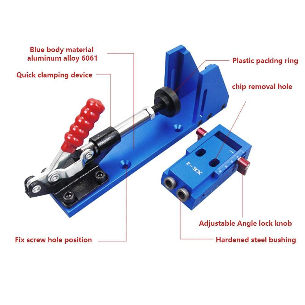 Professional Pocket Hole Jig Kit System Mini Drill Guide With 9.5mm Step Drill Bit HSS For DIY Woodworking Tools