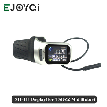 Ebike Display LCD XH 18 Display 1 T 2 Cable Thumb throttle E-bike Part XH18 Display for TSDZ2 Mid Drive Motor Kit
