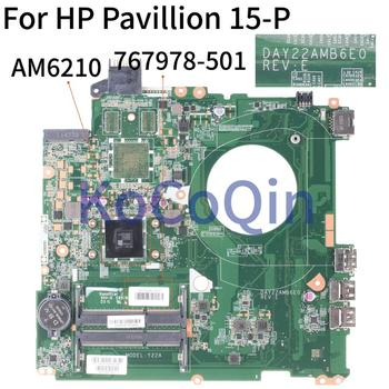 KoCoQin Laptop motherboard For HP Pavillion 15-P 15Z-P AM5210 Mainboard DAY22AMB6E0 767978-501 767978-601 767978-001