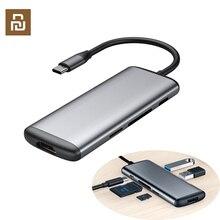 الأصلي هاجيبيس 6 في 1 Type c إلى HDMI USB 3.0 TF قارئ بطاقة SD PD شحن محول محور ل iPhone الهاتف المحمول