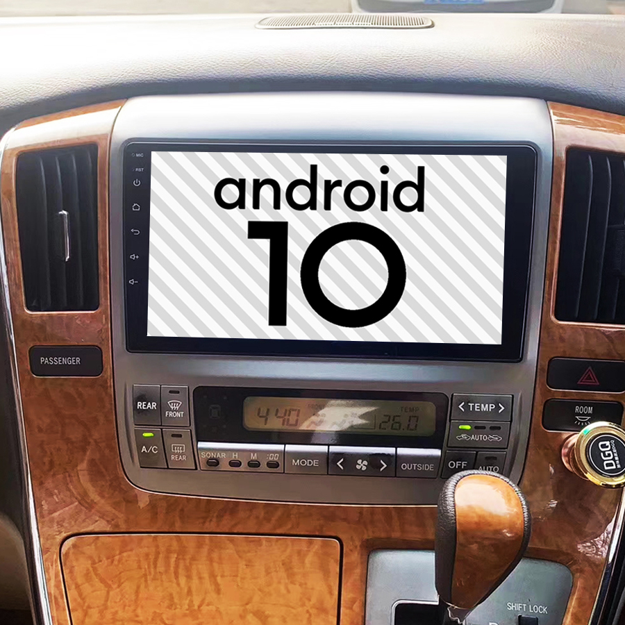 For Toyota Alphard 2007 2006 2005 2004 Car Multimedia Player Android 10.0 Gps BT Navigation Stereo Tape Recorder Radio Head Unit