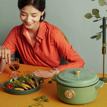 Electric Cooker Home Retro Cooking Hot Pot Cook Noodles Electric Wok