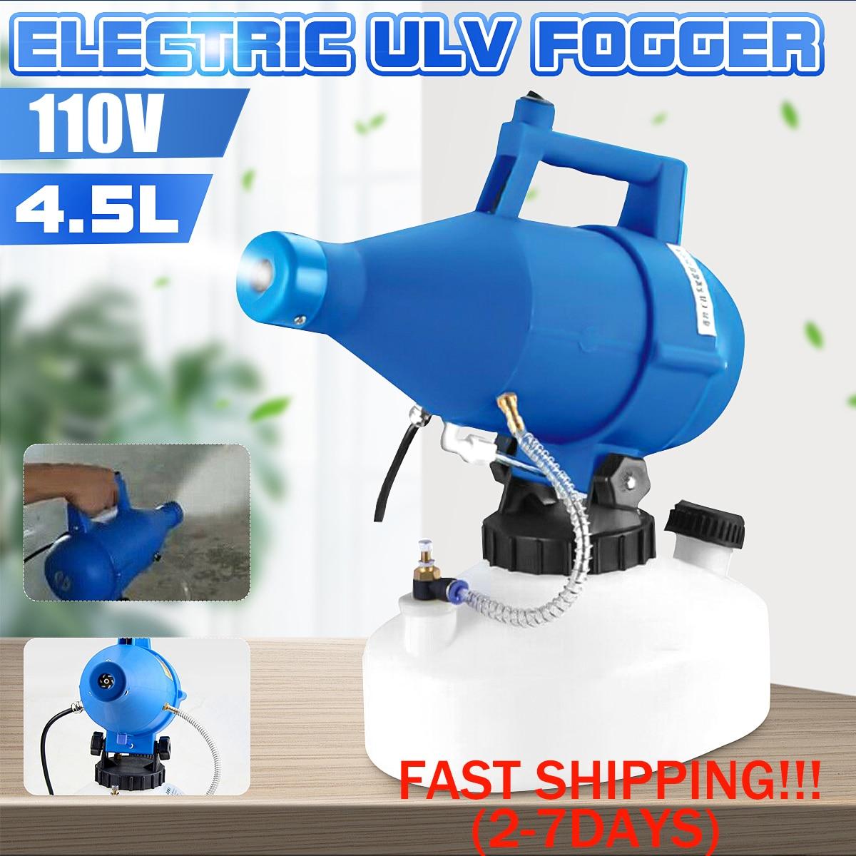 110V 1400W Electric ULV Fogger Sprayer Cold Fogging 4.5L Ultra Low Volume Nebulizer Sterilizer For Virus Disinfection Atomizer