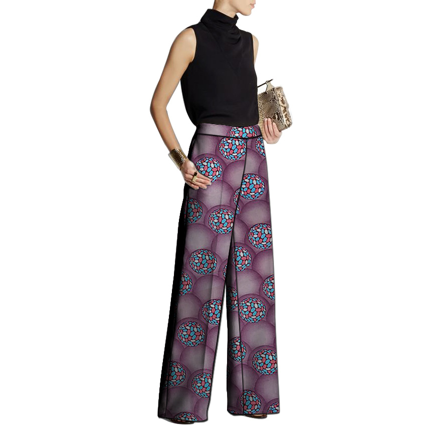 African Clothing Women Print Trousers Ankara Fashion Wide Leg Pants Customized Wedding Wear Female Outfit