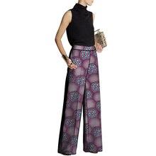 African clothing women print trousers Ankara fashion Wide Leg Pants customized wedding wear female outfit