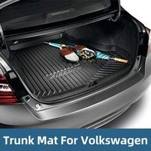 Cargo Trunk Liner Floor Mat Rear Tray For Volkswagen JETTA SAGITAR MAGOTAN CC Boot Anti-slip mat Accessories