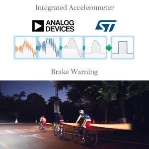 Image 3 - ROCKBROS الدراجة ضوء الذكية الاستشعار مصباح ليد بوحدة USB قابل لإعادة الشحن MTB إضاءة دراجة هوائية الضوء الخلفي 6 وضع الألومنيوم سبيكة حامل الدراجة اكسسوارات