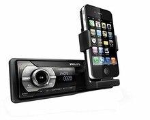 Philips CMD310 – Radio para coche RDS AM/FM con soporte retráctil mecanizado para Apple iPhone y iPod (Reacondicionado)