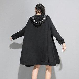 Image 2 - Max LuLu 2019 marca Coreana de moda de las señoras de diseñador de ropa de otoño para mujer con capucha sudaderas holgadas casuales sudaderas largas de talla grande