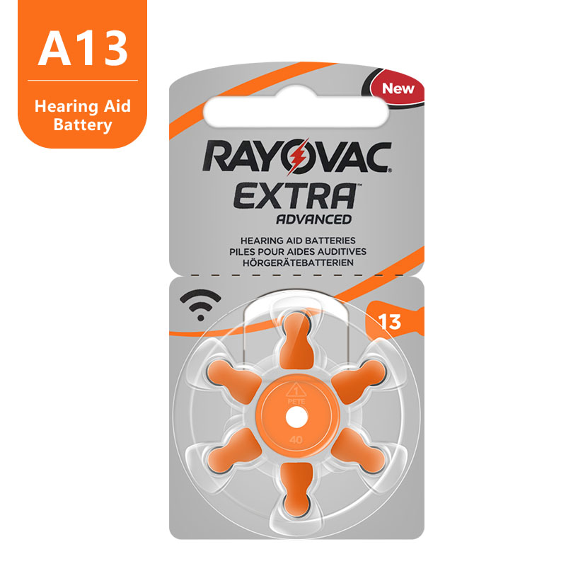 60pc Zinc Air Rayovac Extra High Performance Hearing Aid Battery,13 A13 PR48 Hearing Aid Batteries, Free Shipping !! 4