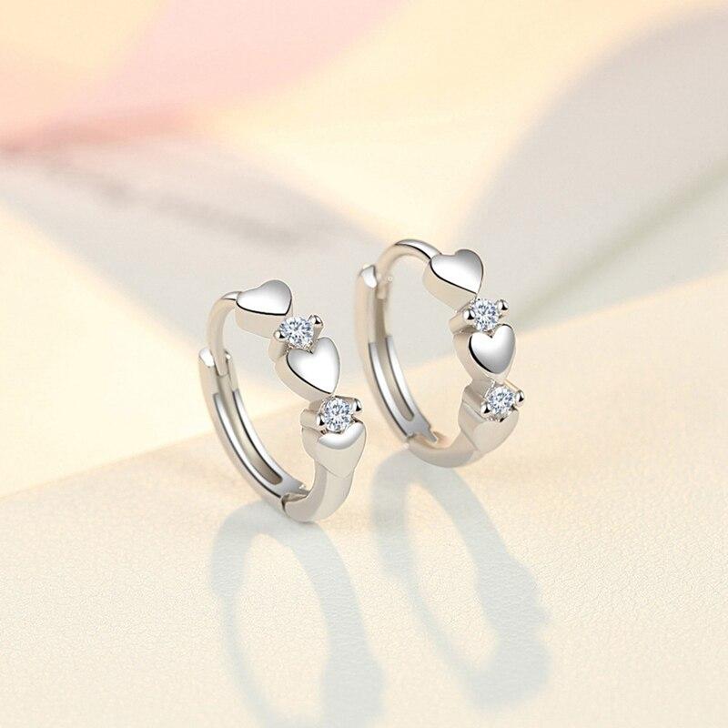 Милые мини-серьги-кольца для маленьких девочек, детские серьги с сердечками, маленькие золотые серьги-кольца, круглые Creole Boucle D'oreille