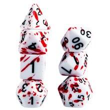 7 шт. кубики крови нерегулярные кубики ролевые игры Игровые кубики реквизит для игр