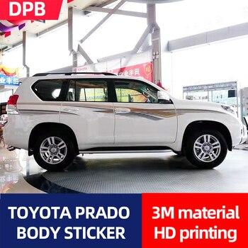 10-19 for Toyota Prado body color strip stickers body pull flower waist line car stickers body color paper
