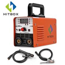 HITBOX дуговой сварочный аппарат MMA Stick Arc-200 смарт-контроль авто дуговой сварочный аппарат антипригарный 1,6-3,2 мм стержни 220 В VRD защита