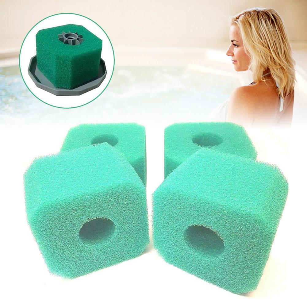 4 pces piscina filtro espuma reusável lavável