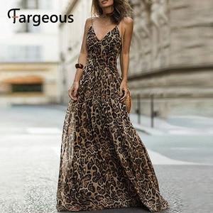 Image 2 - Spagheteei maxivestido con estampado de leopardo, mujer, largo, de gasa, para fiestas nocturnas, Otoño Invierno 2019