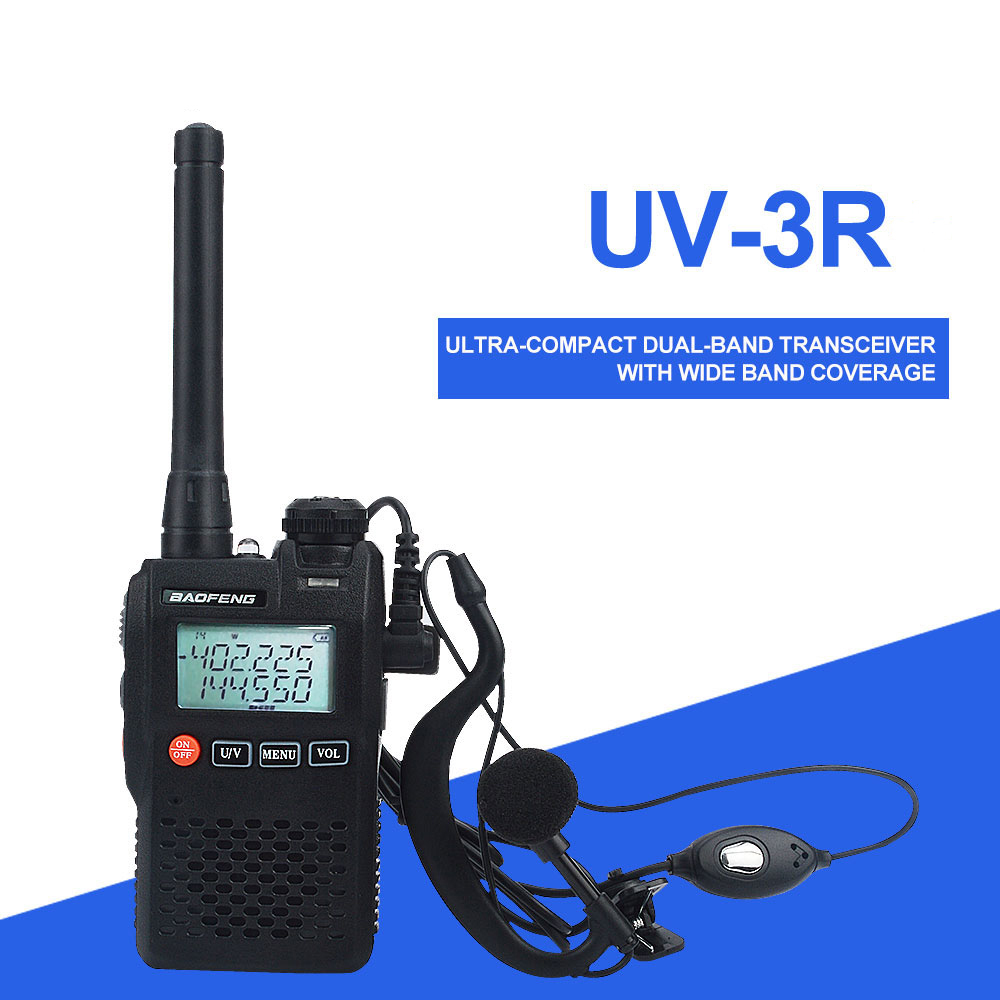 Baofeng Walkie Talkie UV-3R Mini FM TWO WAY RADIO VOX Dual Band Dual Display With Handsfree 2W 99ch