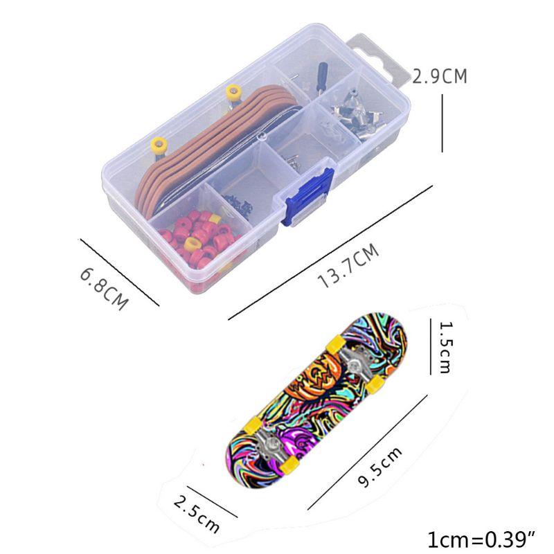 NEW Plastic Mini Finger Skating Board Table Game Toy Kids Children Finger Skateboard 6