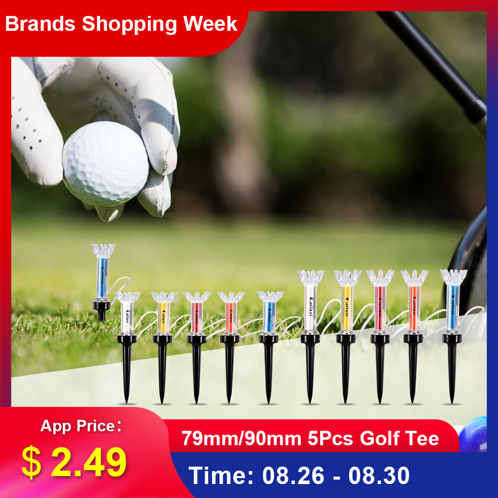 Tees Golf-Tees-Accessories Golf-Ball-Holder Magnetic-Step-Down Outdoor 79mm/90mm 5pcs