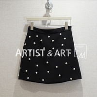 Svoryxiu 2020 Designer Summer Fashion Black A Line Mini Skirt Women's Manual Diamond Beading High Waist Mini Skirt Female